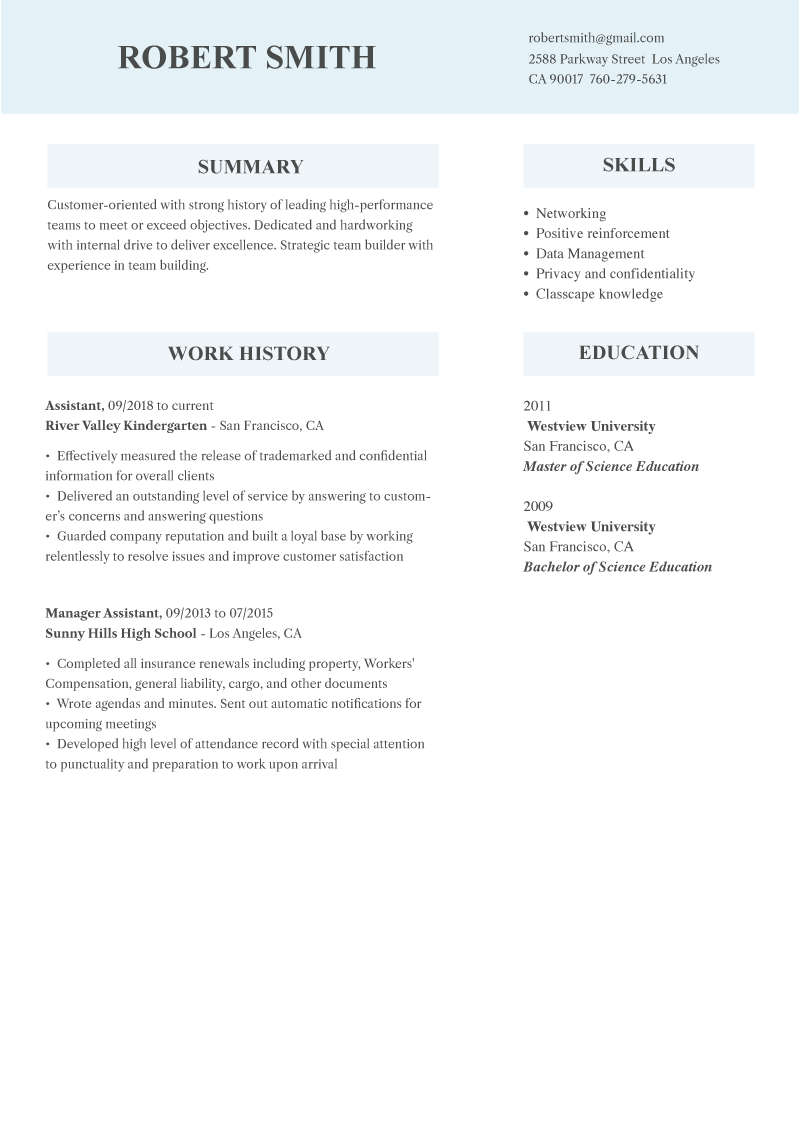 Online Resume Builder and Templates | WowResume com